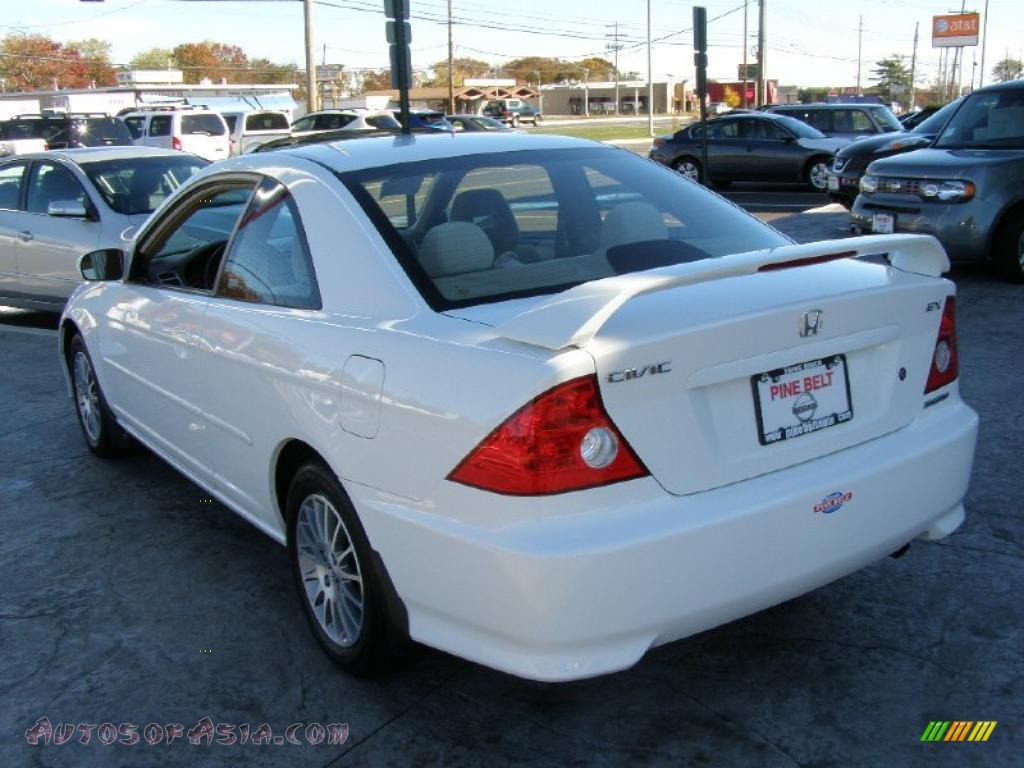 2005 honda civic ex coupe in taffeta white photo 5. Black Bedroom Furniture Sets. Home Design Ideas