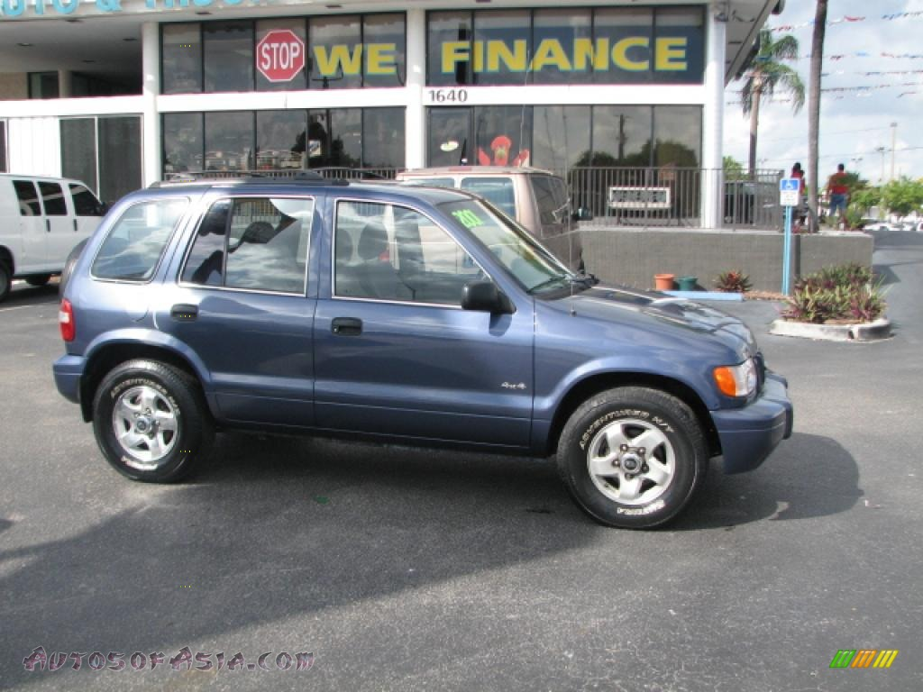 2001 kia sportage ex 4x4 in slate blue 035166 autos of. Black Bedroom Furniture Sets. Home Design Ideas