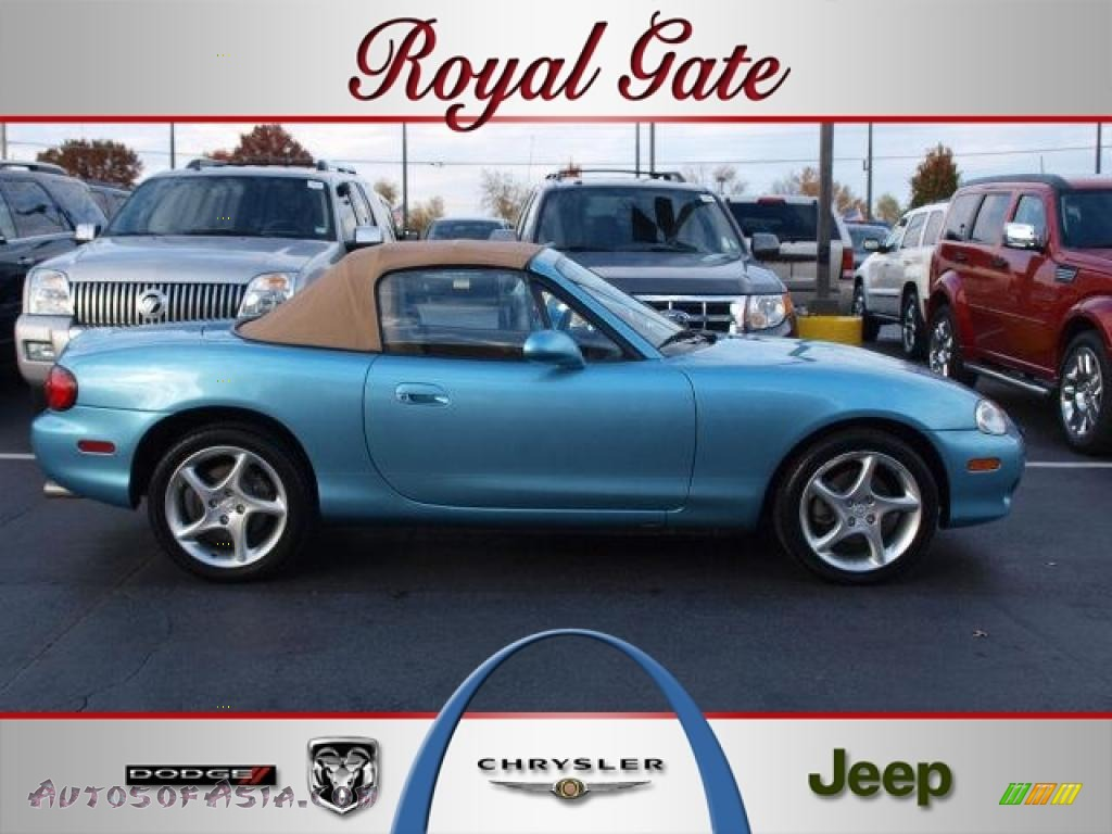 2001 MX 5 Miata LS Roadster   Crystal Blue Metallic / Tan Photo #1