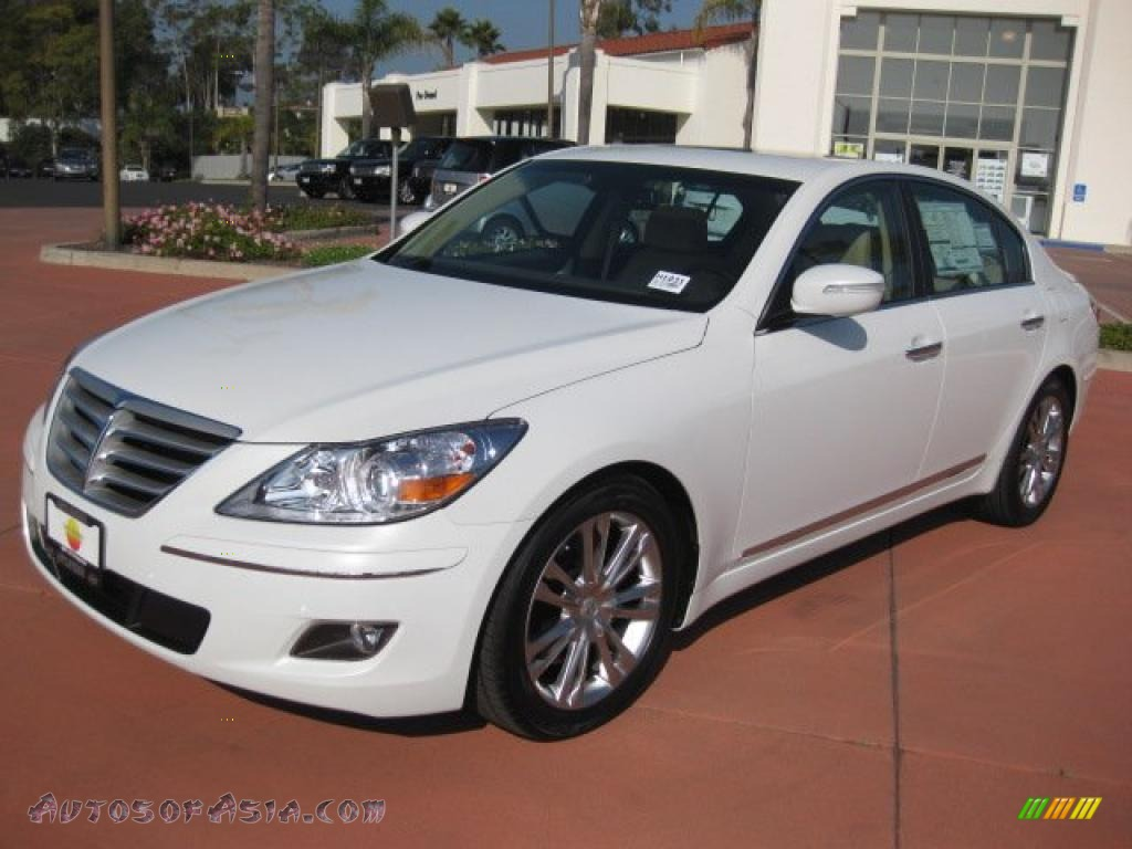 2011 Hyundai Genesis 4 6 Sedan In White Satin Pearl