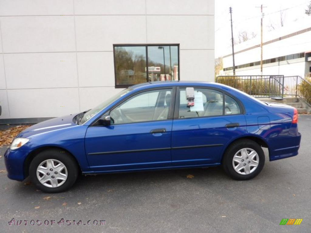2004 Honda Civic Value Package Sedan In Fiji Blue Pearl