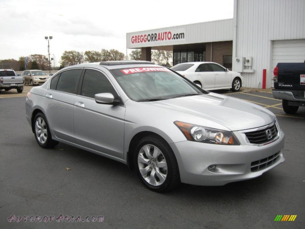 2008 honda accord ex l v6 sedan in alabaster silver metallic 024895 autos of asia japanese. Black Bedroom Furniture Sets. Home Design Ideas