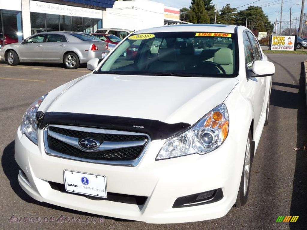 2010 subaru legacy 3 6r limited sedan in satin white pearl 222473 autos of asia japanese. Black Bedroom Furniture Sets. Home Design Ideas