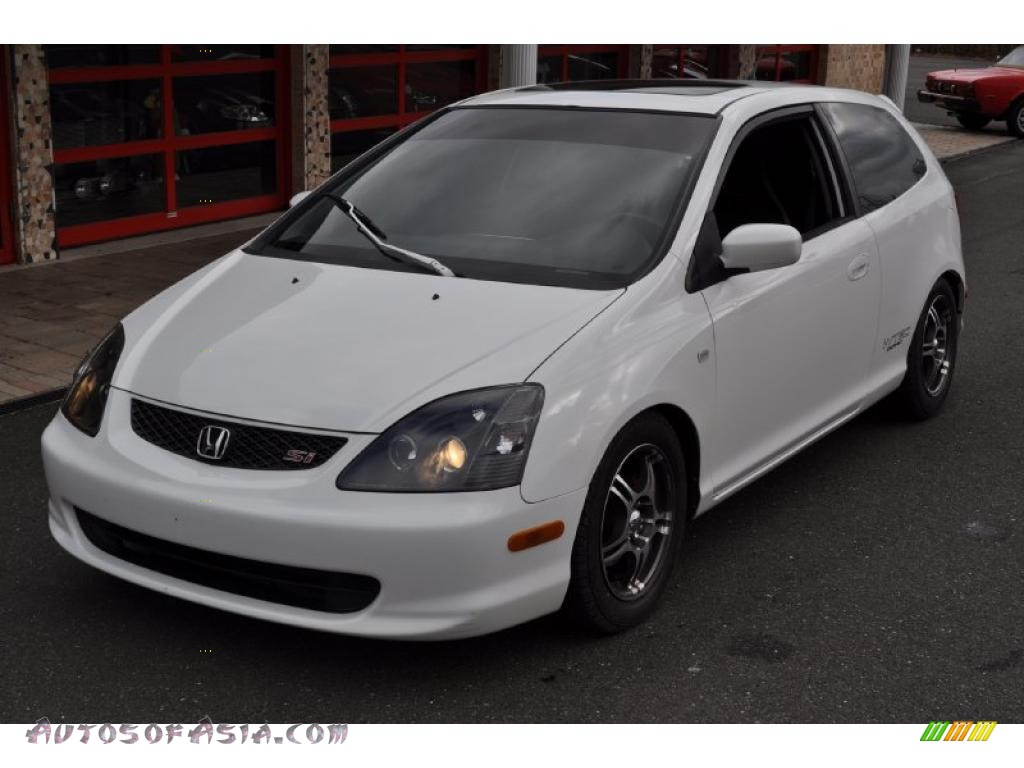 2003 honda civic si hatchback in taffeta white photo 3 406889 autos of asia japanese and. Black Bedroom Furniture Sets. Home Design Ideas