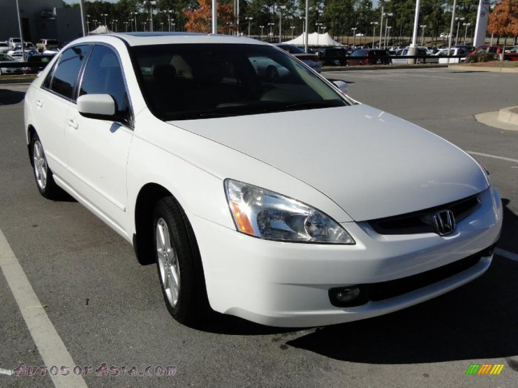 2004 honda accord ex v6 sedan in taffeta white photo 3 041037 autos of asia japanese and. Black Bedroom Furniture Sets. Home Design Ideas