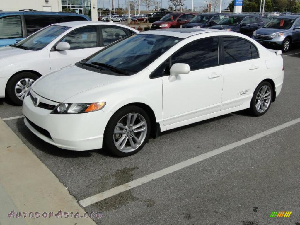 2008 honda civic si sedan in taffeta white 706481 autos of asia japanese and korean cars. Black Bedroom Furniture Sets. Home Design Ideas