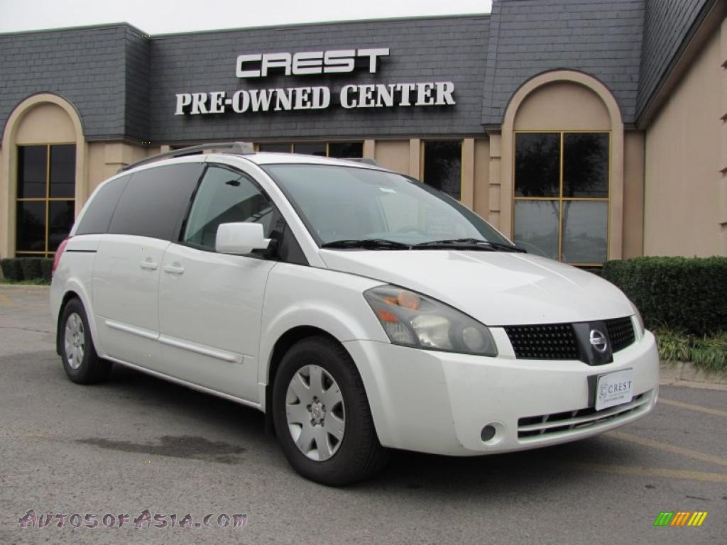 2005 nissan quest 3 5 s in nordic white pearl 104337 autos of asia japanese and korean. Black Bedroom Furniture Sets. Home Design Ideas