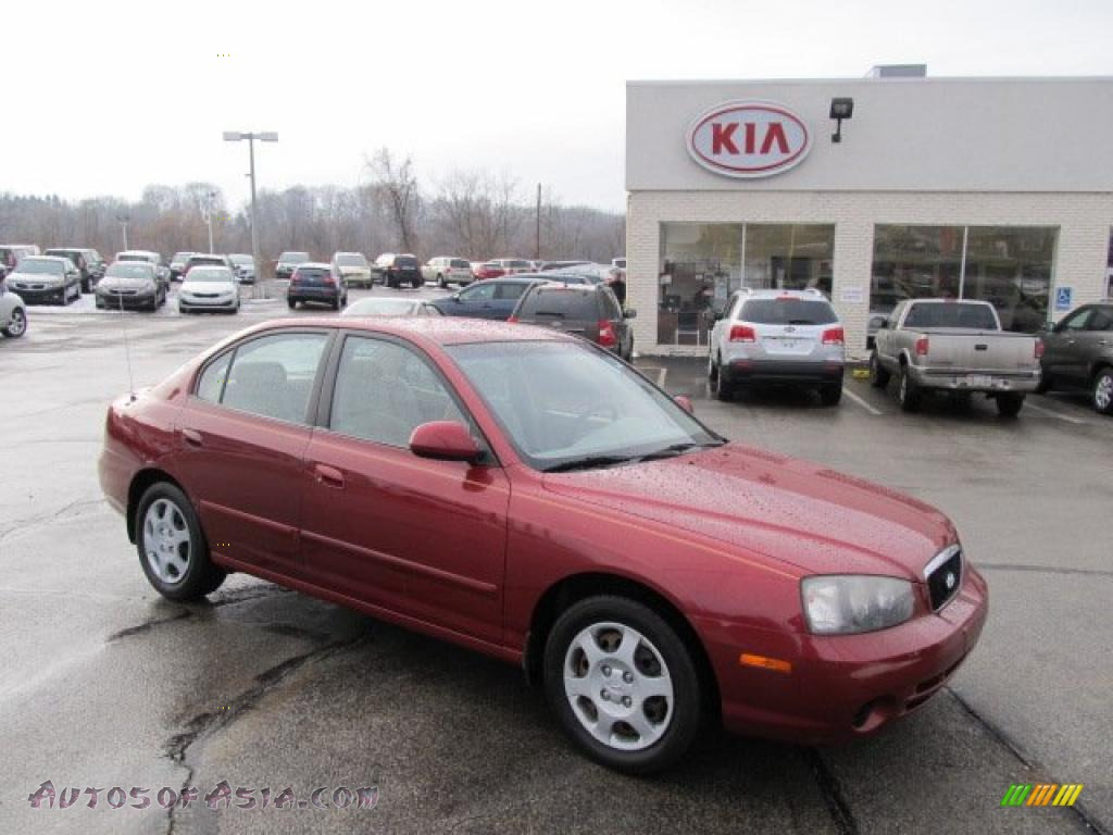 2002 hyundai elantra gls sedan in chianti red 371397 autos of asia japanese and korean cars for sale in the us autos of asia