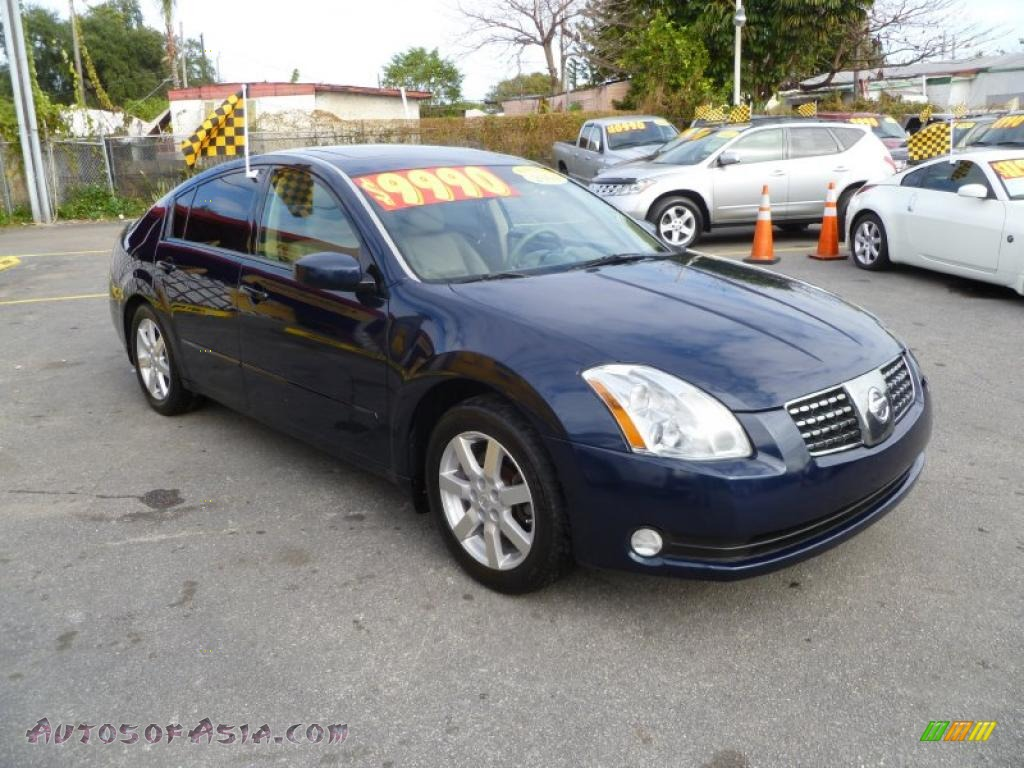 2004 nissan maxima 3 5 sl in majestic blue metallic. Black Bedroom Furniture Sets. Home Design Ideas