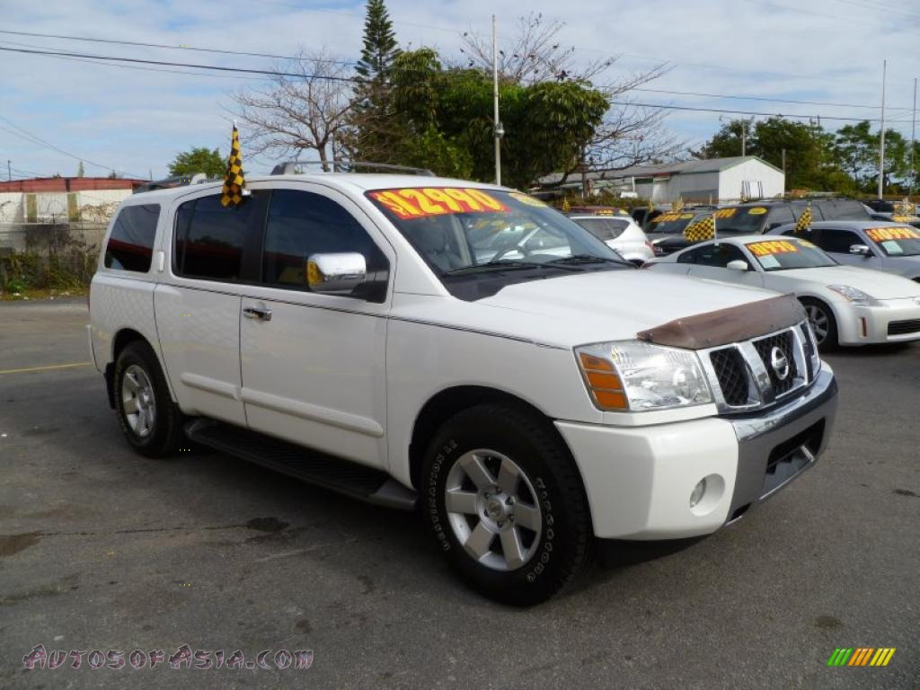 2004 nissan armada le in blizzard white 746198 autos of asia japanese and korean cars for. Black Bedroom Furniture Sets. Home Design Ideas