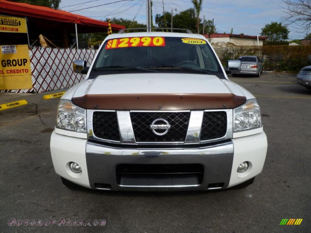 2004 nissan armada le in blizzard white photo 2 746198 autos of asia japanese and korean. Black Bedroom Furniture Sets. Home Design Ideas