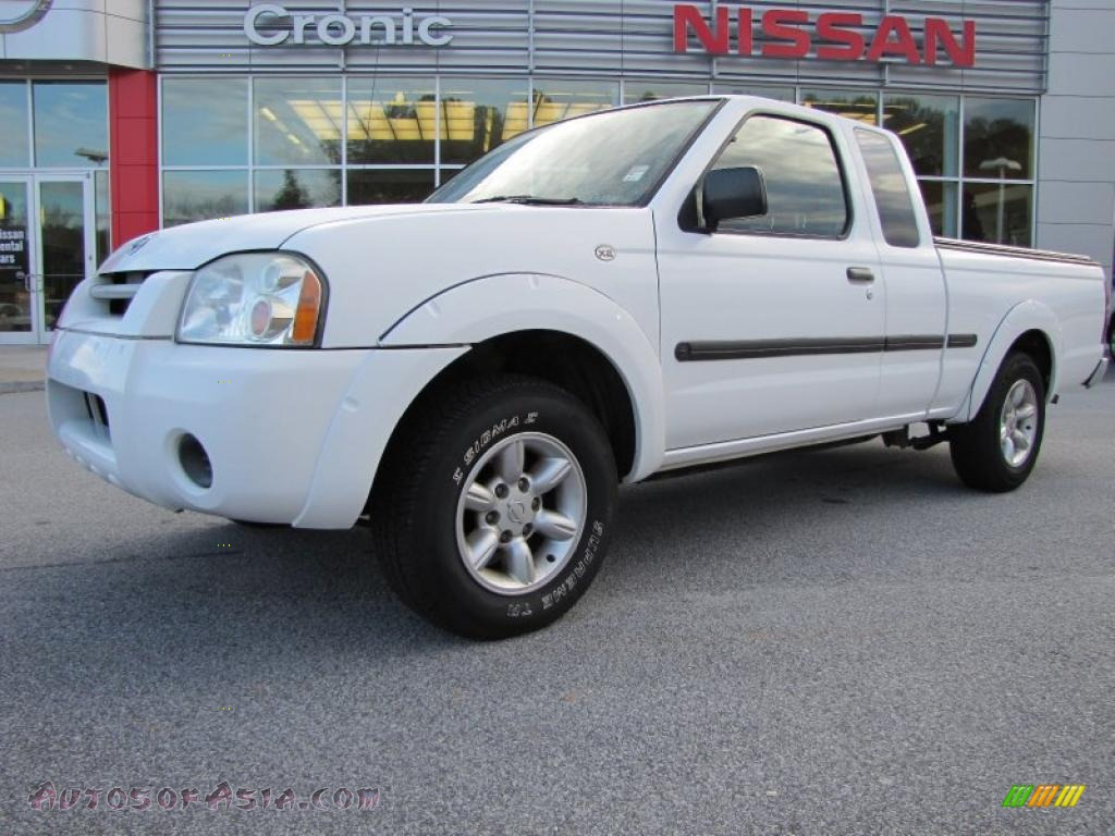 2002 nissan frontier xe king cab in cloud white 305065 autos of asia japanese and korean. Black Bedroom Furniture Sets. Home Design Ideas