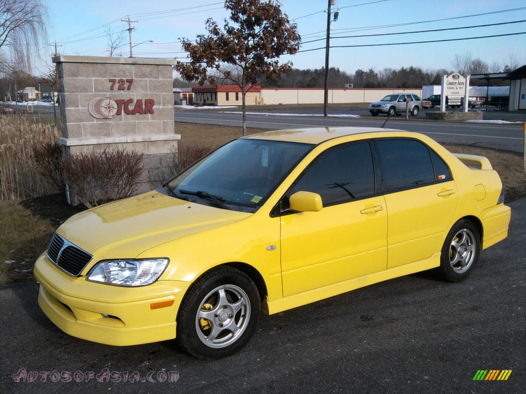 2003 mitsubishi lancer oz rally in lightning yellow. Black Bedroom Furniture Sets. Home Design Ideas