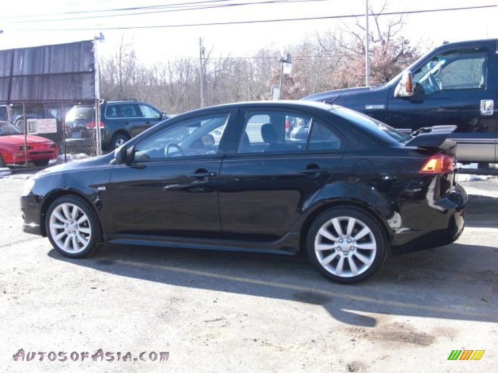2008 mitsubishi lancer gts in tarmac black pearl photo 3 024995 autos of asia japanese. Black Bedroom Furniture Sets. Home Design Ideas