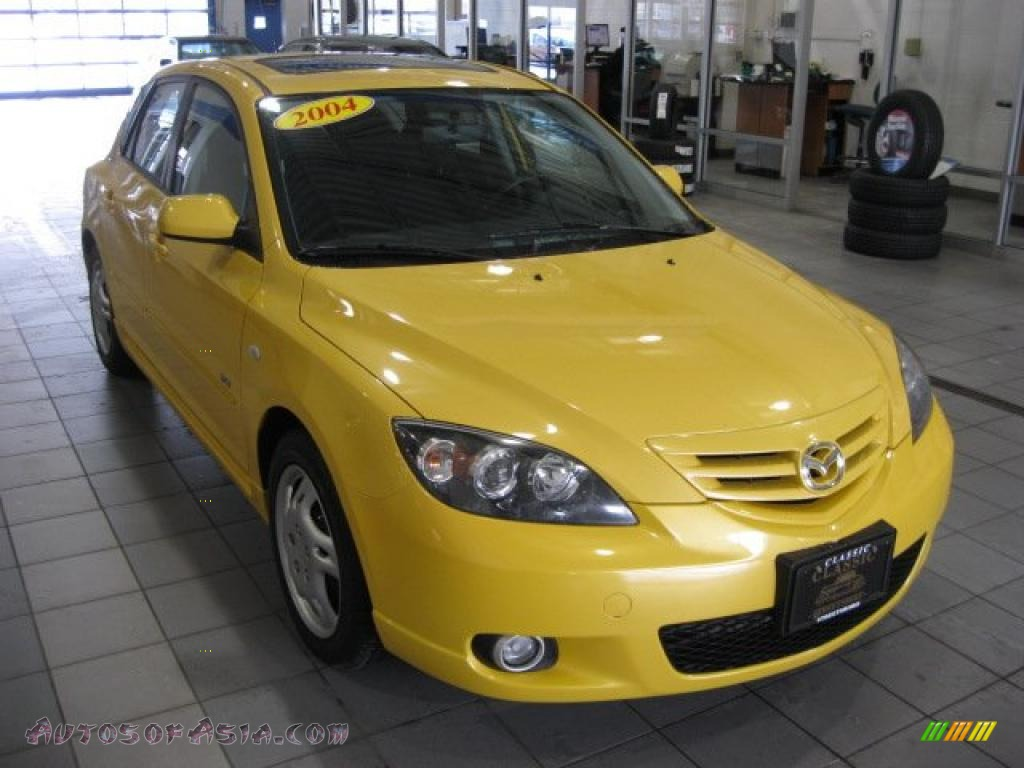 2004 mazda mazda3 s hatchback in solar yellow mica 194939 autos of asia japanese and. Black Bedroom Furniture Sets. Home Design Ideas