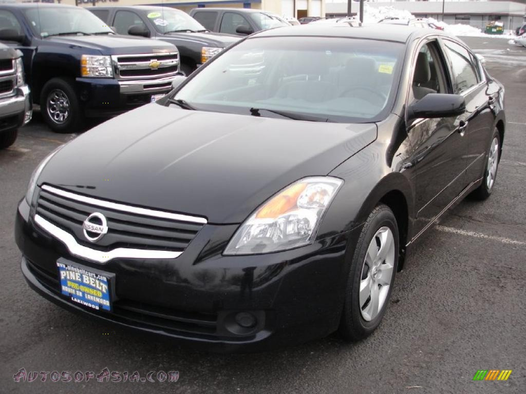 2007 nissan altima 2 5 s in super black 478496 autos of asia japanese and korean cars for. Black Bedroom Furniture Sets. Home Design Ideas