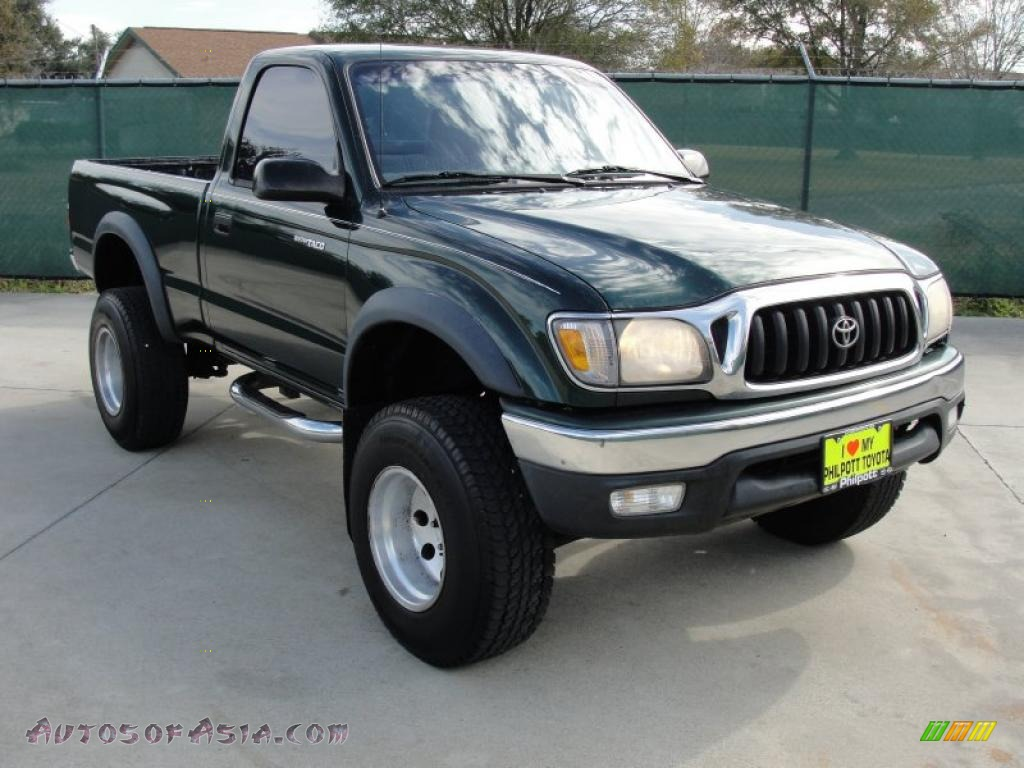 2001 toyota tacoma prerunner regular cab in imperial jade green mica 743673 autos of asia. Black Bedroom Furniture Sets. Home Design Ideas