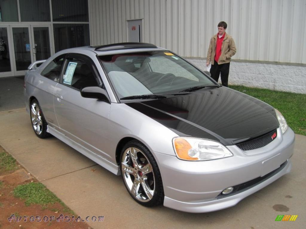 2002 honda civic ex coupe in satin silver metallic. Black Bedroom Furniture Sets. Home Design Ideas
