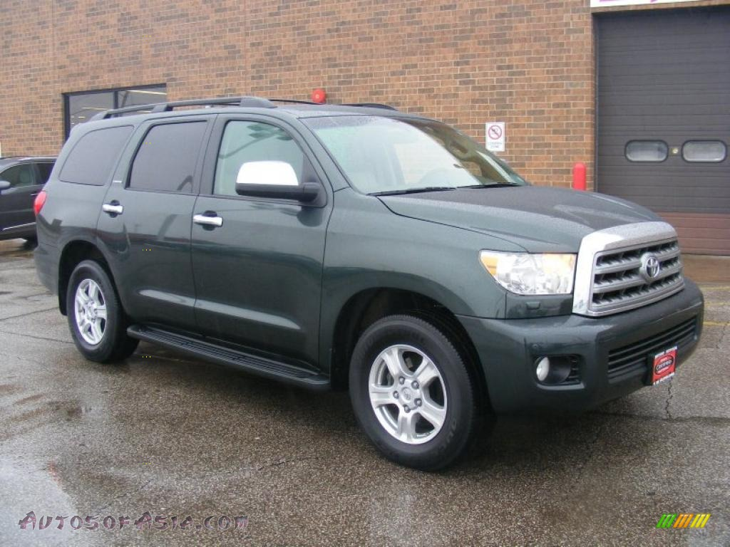2008 toyota sequoia limited 4wd in timberland green mica 001896 autos of asia japanese and. Black Bedroom Furniture Sets. Home Design Ideas
