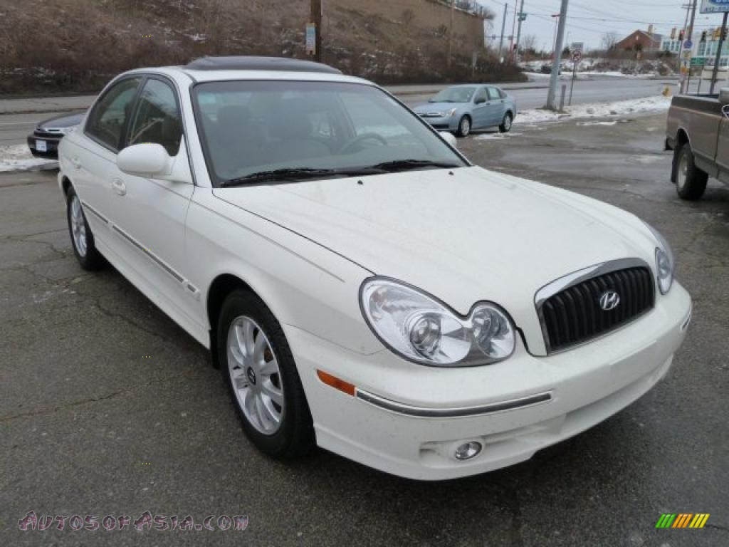 2005 Hyundai Sonata Gls V6 In Powder White Pearl 131683