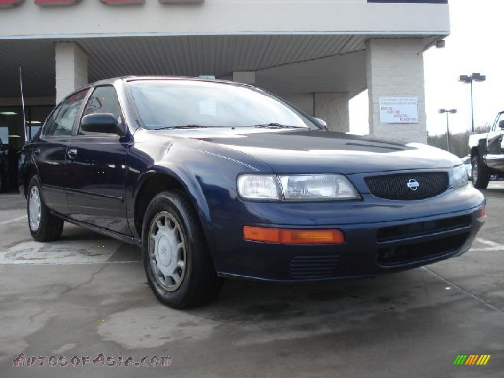 1996 nissan maxima gxe in starfire blue pearl 112563 autos of asia japanese and korean. Black Bedroom Furniture Sets. Home Design Ideas