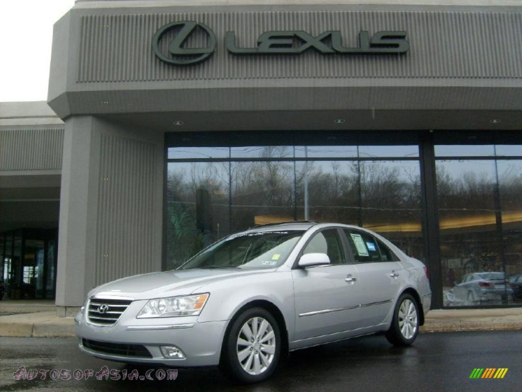 2009 hyundai sonata limited v6 in bright silver 552926 autos of asia japanese and korean. Black Bedroom Furniture Sets. Home Design Ideas