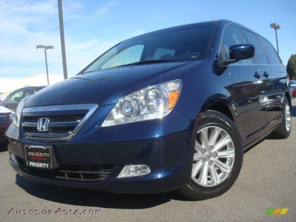 2007 Honda Odyssey Touring In Midnight Blue Pearl 074022