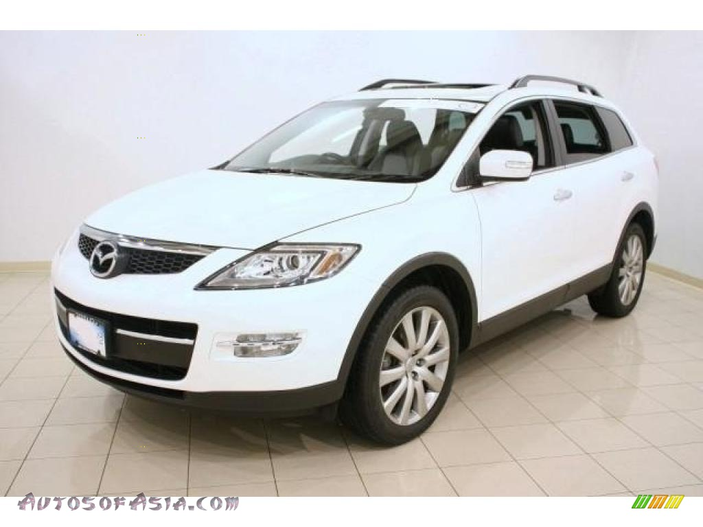2008 mazda cx 9 grand touring awd in crystal white pearl mica 126977 autos of asia. Black Bedroom Furniture Sets. Home Design Ideas