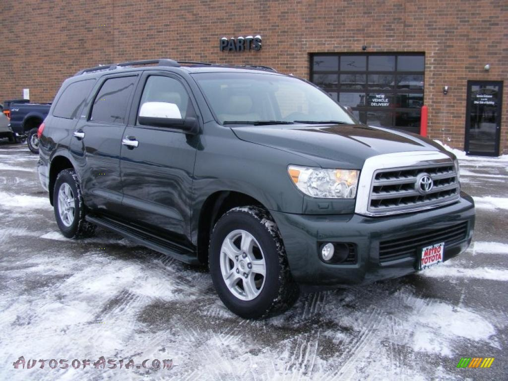 2008 toyota sequoia limited 4wd in timberland green mica 012844 autos of asia japanese and. Black Bedroom Furniture Sets. Home Design Ideas