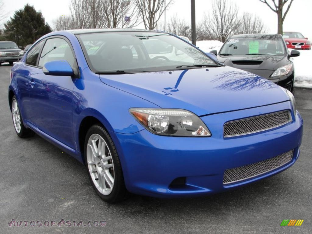 2006 scion tc in blue blitz mica 129673 autos of asia japanese and korean cars for sale in. Black Bedroom Furniture Sets. Home Design Ideas