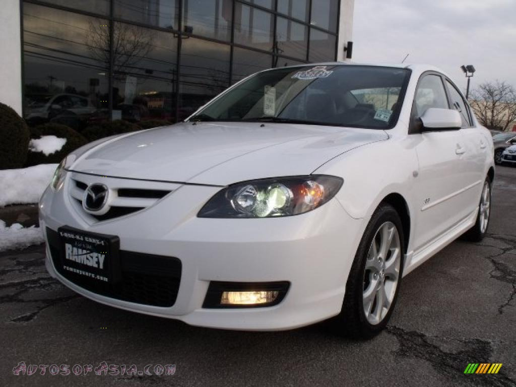 2008 mazda mazda3 s grand touring sedan in crystal white pearl mica 848216 autos of asia. Black Bedroom Furniture Sets. Home Design Ideas