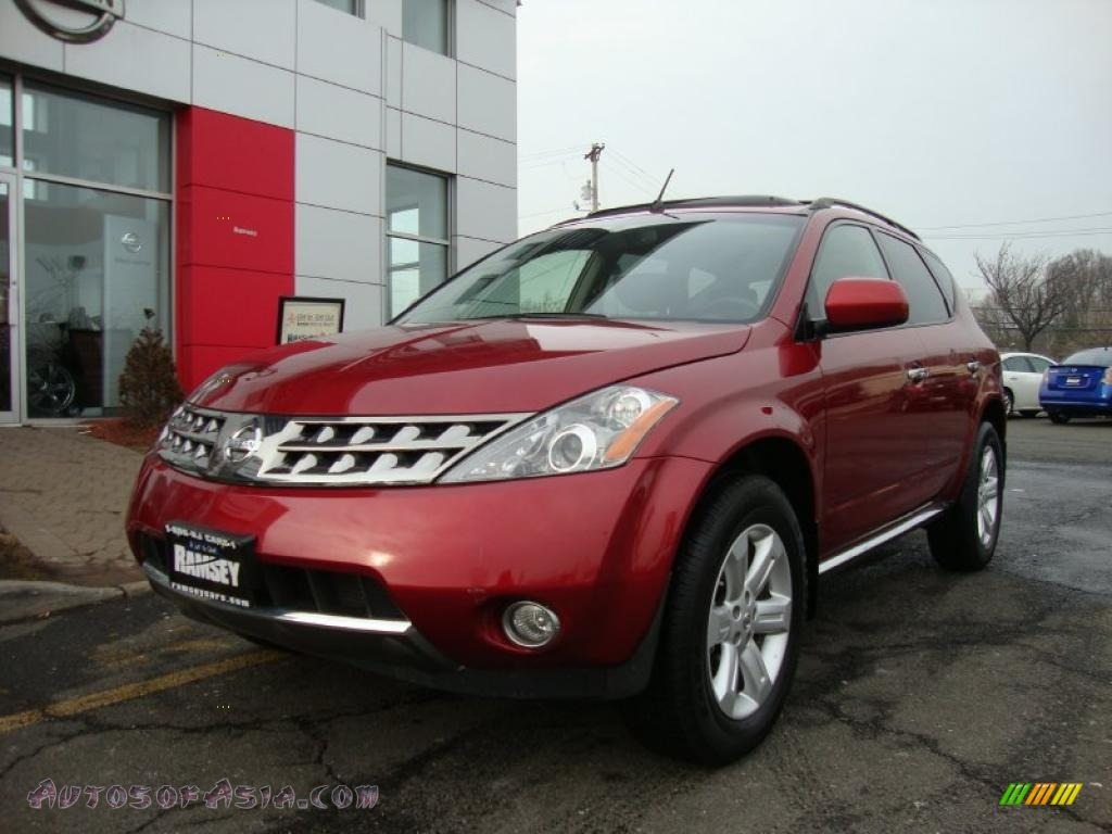 2007 nissan murano sl awd in sunset red pearl metallic. Black Bedroom Furniture Sets. Home Design Ideas