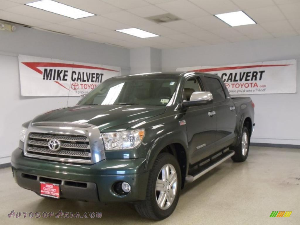 2008 toyota tundra limited crewmax in timberland green mica 034336 autos of asia japanese. Black Bedroom Furniture Sets. Home Design Ideas