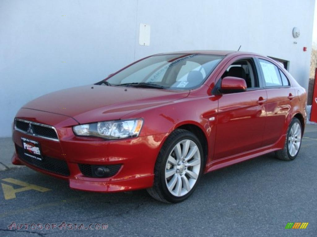 2010 mitsubishi lancer sportback gts in rally red metallic 002391 autos of asia japanese. Black Bedroom Furniture Sets. Home Design Ideas