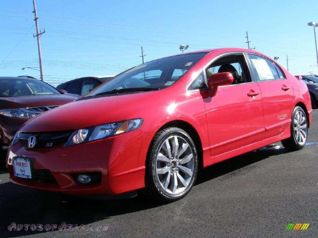 2009 honda civic si sedan in rallye red 707732 autos of asia japanese and korean cars for. Black Bedroom Furniture Sets. Home Design Ideas