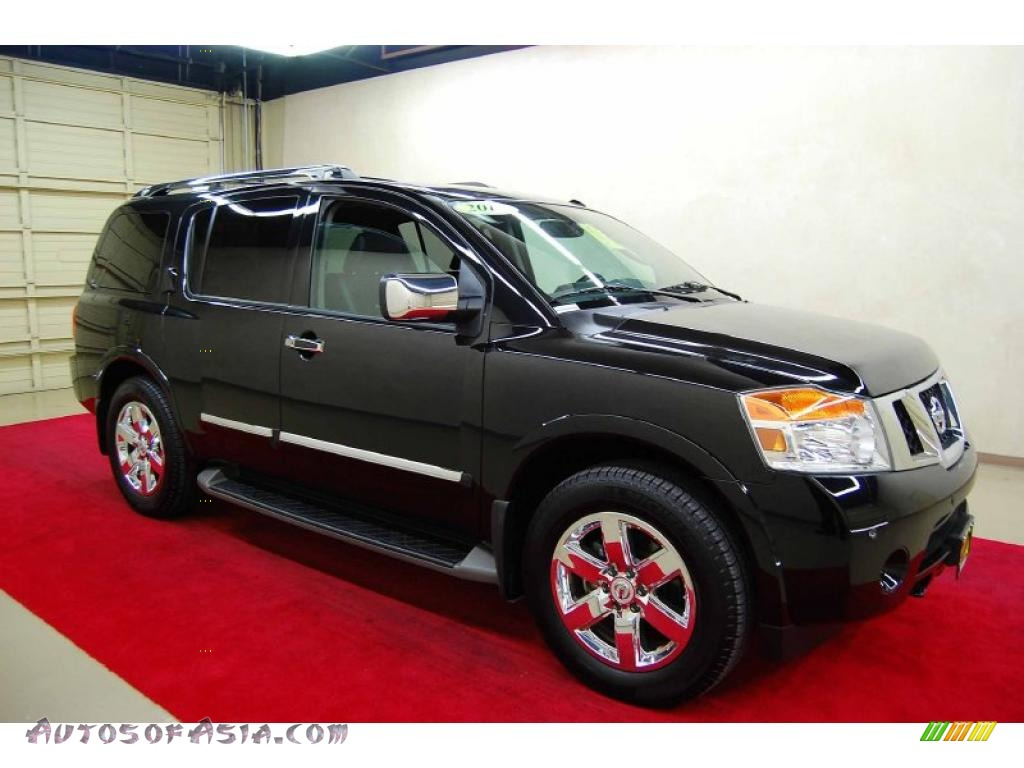 2010 nissan armada platinum in galaxy black metallic 608054 autos of asia japanese and. Black Bedroom Furniture Sets. Home Design Ideas