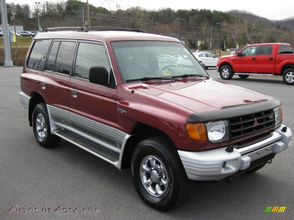1999 Mitsubishi Montero 4x4 In Cambridge Red Pearl Photo