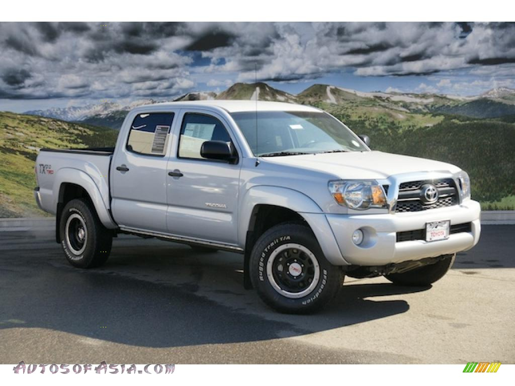 2011 toyota tacoma tx double cab 4x4 in silver streak mica 058837 autos of asia japanese. Black Bedroom Furniture Sets. Home Design Ideas