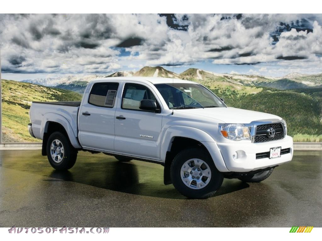 2011 toyota tacoma v6 sr5 double cab 4x4 in super white 069072 autos of asia japanese and. Black Bedroom Furniture Sets. Home Design Ideas