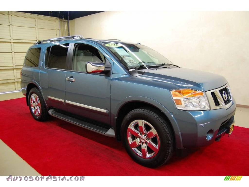 2010 nissan armada platinum in lakeshore slate blue metallic 610620 autos of asia japanese. Black Bedroom Furniture Sets. Home Design Ideas