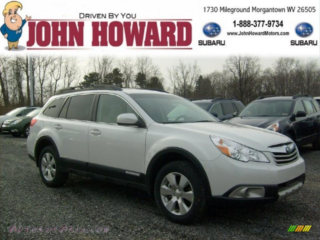 2011 subaru outback 3 6r limited wagon in satin white for Mileground motors in morgantown wv