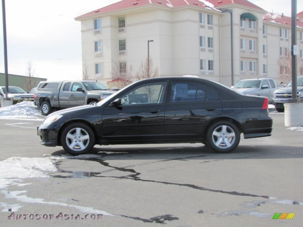 2005 Honda Civic Ex Sedan In Nighthawk Black Pearl
