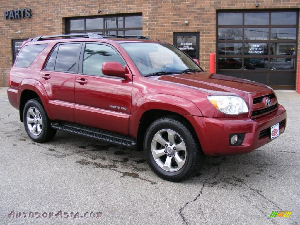 2007 toyota 4runner limited 4x4 in salsa red pearl. Black Bedroom Furniture Sets. Home Design Ideas