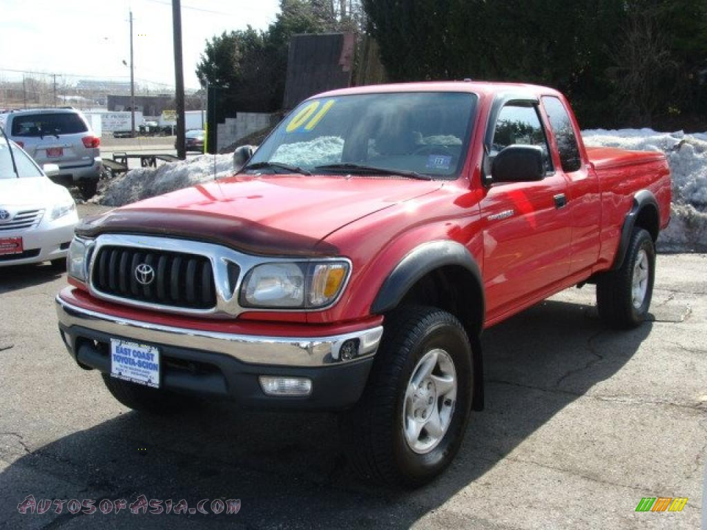 2001 toyota tacoma xtracab 4x4 in radiant red 801567 autos of asia japanese and korean. Black Bedroom Furniture Sets. Home Design Ideas