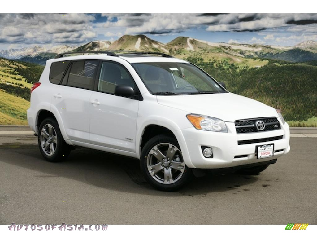 2011 toyota rav4 v6 sport 4wd in super white 050217 autos of asia japanese and korean cars. Black Bedroom Furniture Sets. Home Design Ideas