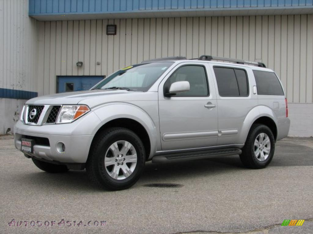 2007 Nissan Pathfinder Le 4x4 In Silver Lightning 639258 Autos 2014 Trailer Harness Graphite Photo 1
