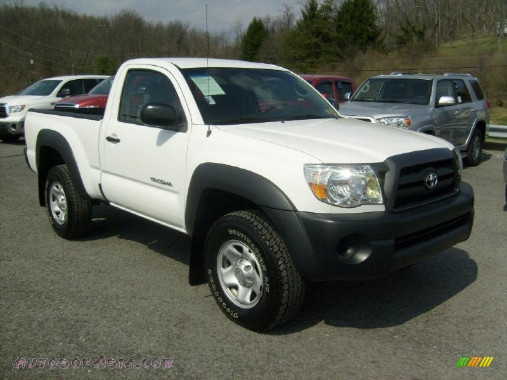 2007 toyota tacoma regular cab 4x4 in super white photo 9 406329 autos of asia japanese. Black Bedroom Furniture Sets. Home Design Ideas