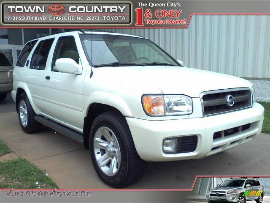 2002 nissan pathfinder le in glacier white pearl 667522 autos of asia japanese and korean. Black Bedroom Furniture Sets. Home Design Ideas