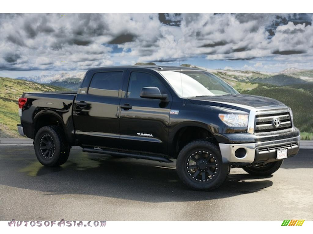 2011 toyota tundra sr5 crewmax 4x4 in black 185670 autos of asia japanese and korean cars. Black Bedroom Furniture Sets. Home Design Ideas