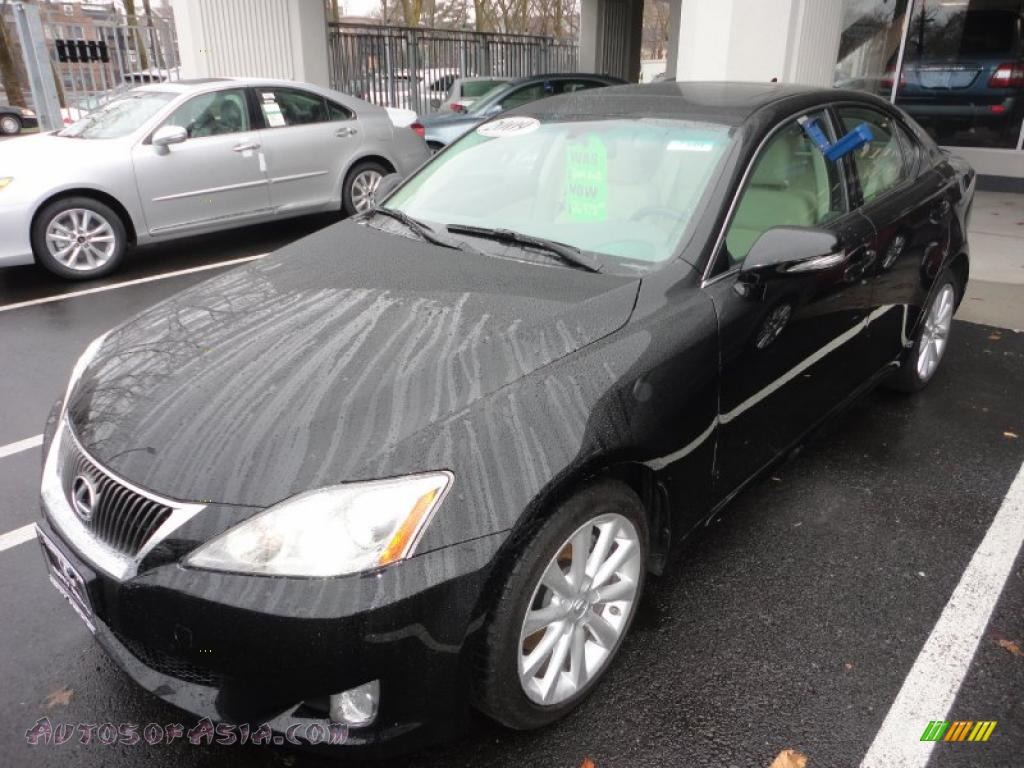 2009 lexus is 250 awd in obsidian black 030455 autos of asia japanese and korean cars for. Black Bedroom Furniture Sets. Home Design Ideas